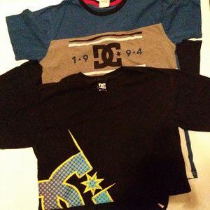 2 Dc shoes boys shirts